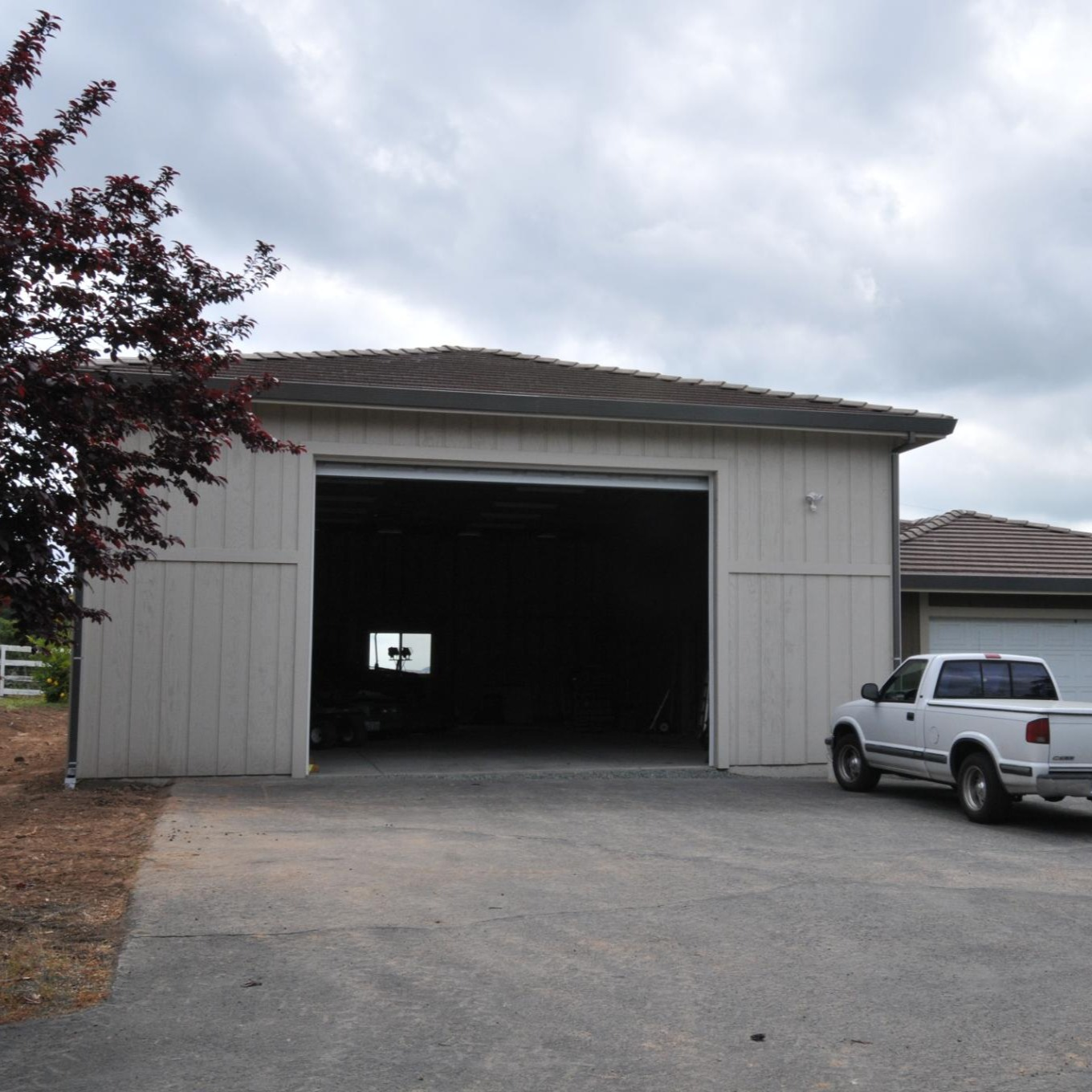 Custom RV garage drawn and framing package by Pacific Modern Homes
