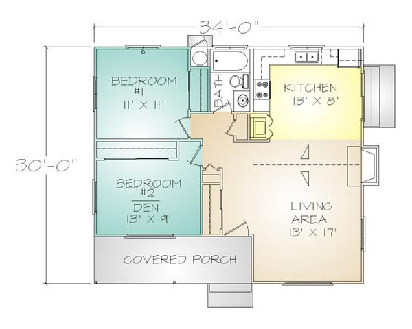 PMHI Portola plans has 2 bedrooms and 1 bath