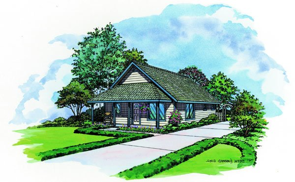 Pacific Modern homes camino plan has a full covered front porch