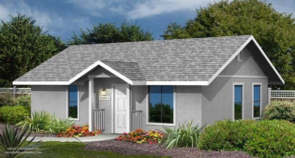 stucco is an option for all Pacific Modern home framing packages