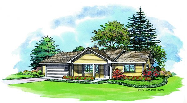 PMHI Plymouth home plan with three bedrooms and large open space