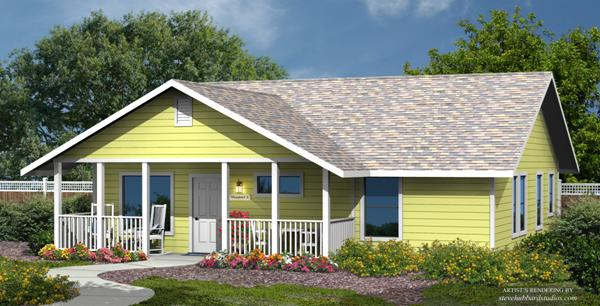 PMHI Newport home design with cement lap siding exterior