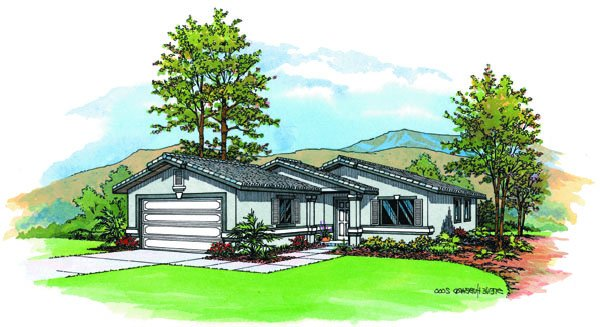 PMHI Santa Fe floor plan for a narrow lot with 3 bedrooms and framing package and plan price