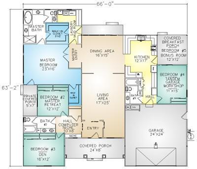 PMHI Astoria floor plan with 5 bedrooms including huge master suite