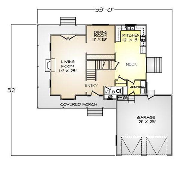 PMHI Manchester first floor plan with open floor plan