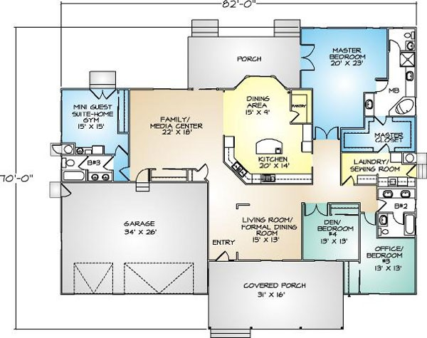 PMHI Napa home floor plan with open space, huge master suite and 3 car garage