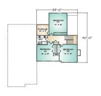 PMHI Rockport second floor plan with 3 bedrooms