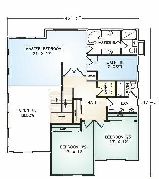 PMHI Emerald second floor plan with three bedrooms